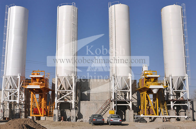 Concrete batching plant Dragline type