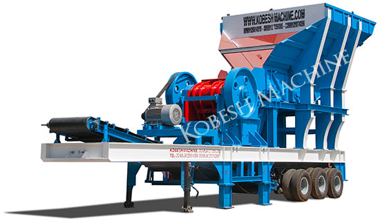 mobile crusher plant stone jaw impact kobeshmachine